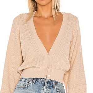 Free People cropped cardigan - small